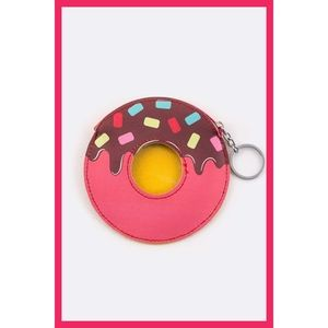 Donut Food Snack Key Chain Coin Wallet Novelty